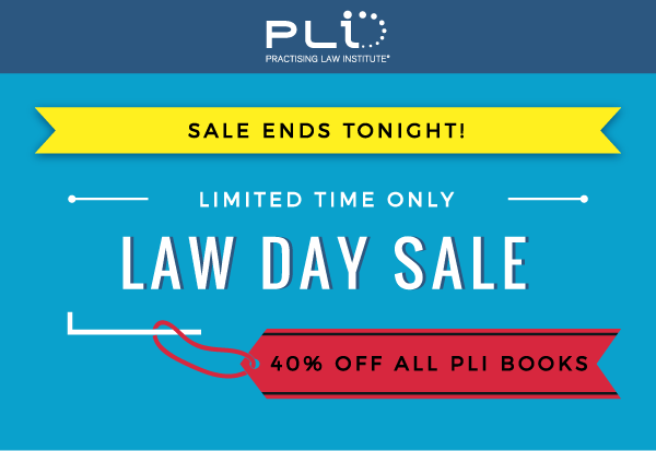 PLI Law Day Sale | All PLI Books - Limited Time Only - 40% OFF