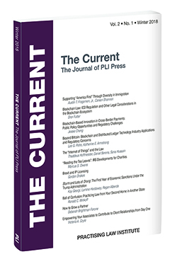 The Current: The Journal of PLI Press, Vol. 2, No. 1 (Winter 2018)
