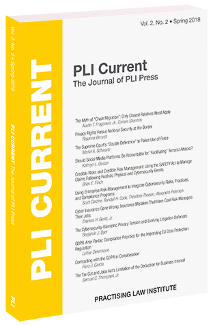 PLI Current: The Journal of PLI Press, Vol. 2, No. 2 (Spring 2018)