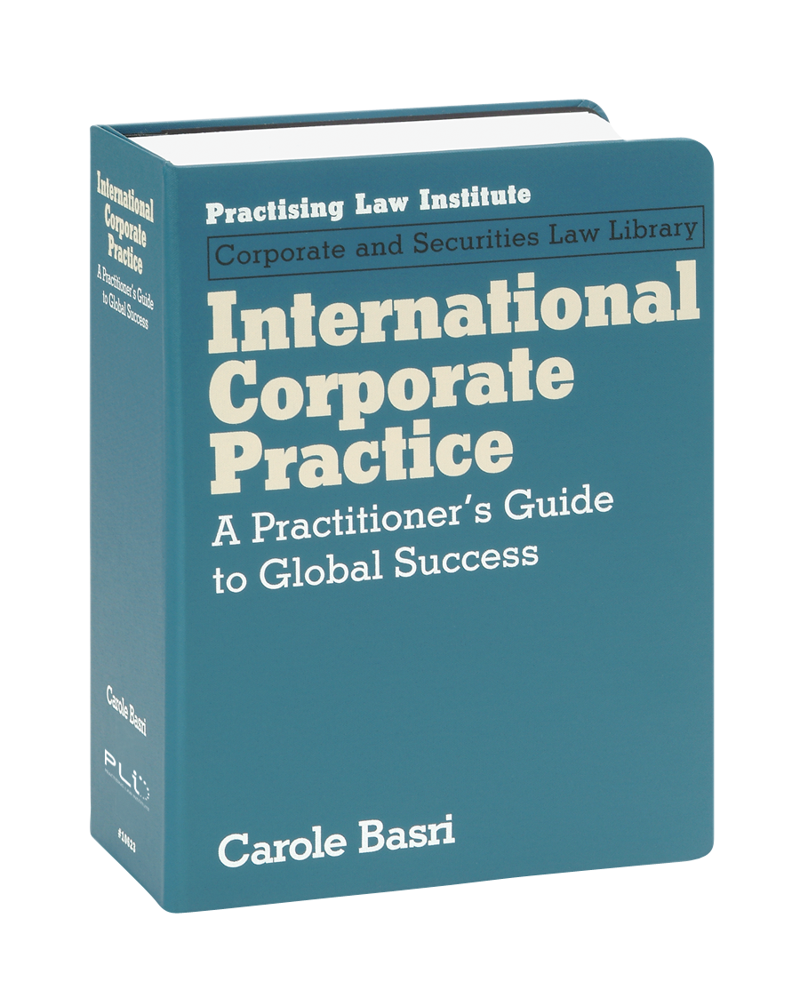 International Corporate Practice: A Practitioner's Guide to Global Success