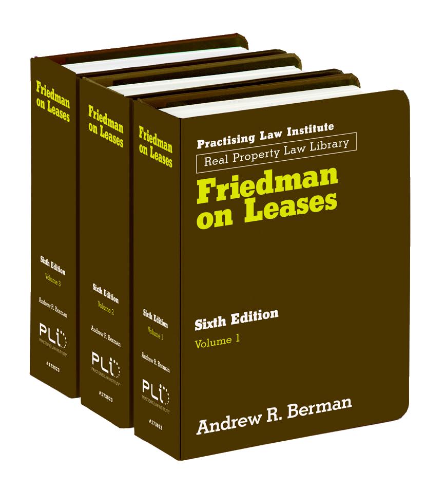 Pli Treatises Friedman On Leases Sixth Edition